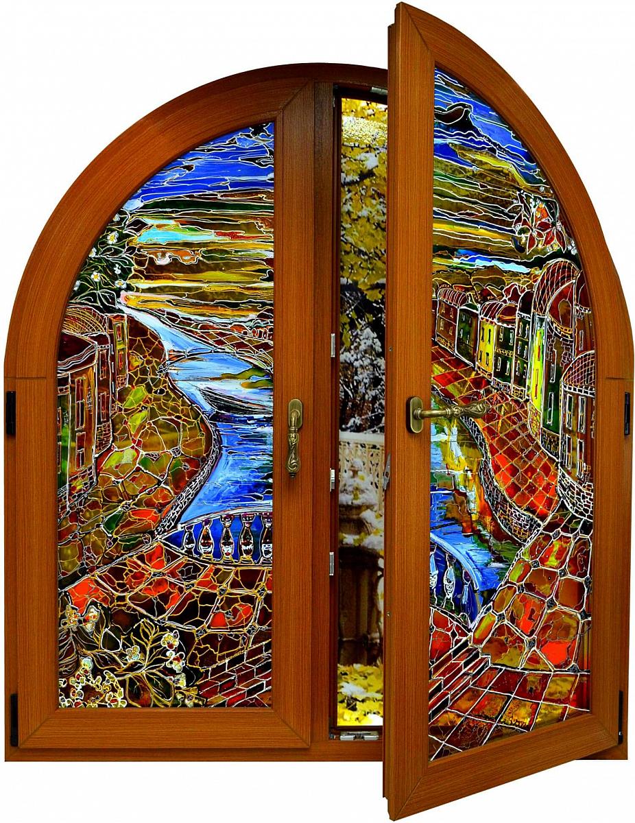 Пластиковые двери арка